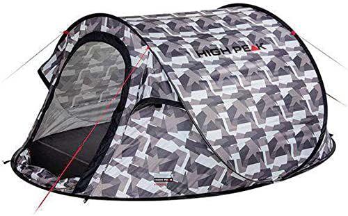 High Peak Vision 2 namiot rzucany dla 2 osób, namiot festiwalowy, wolnostojący, bardzo lekki, szybki otwór, 2000 mm wodoszczelny, ochrona przed słońcem UV 60, system wentylacji, ochrona przed komarami
