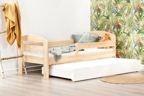 Łóżko 160x80cm BumbleBee podwójne kolor sosna/biały