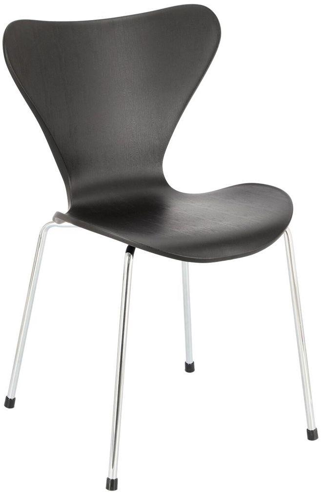 Minimalistyczne krzesło czarne - Fimi