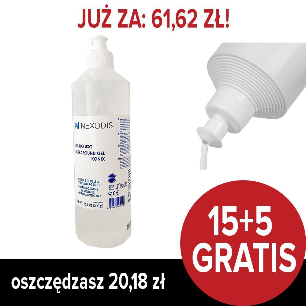 Żel do USG NEXODIS - butelka 500 ml (PAKIET 15+5 GRATIS)
