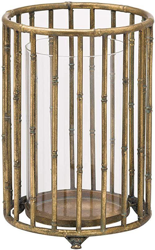 Hill 1975 Duża metaliczna latarnia bambusowa, wielokolorowa, jeden rozmiar