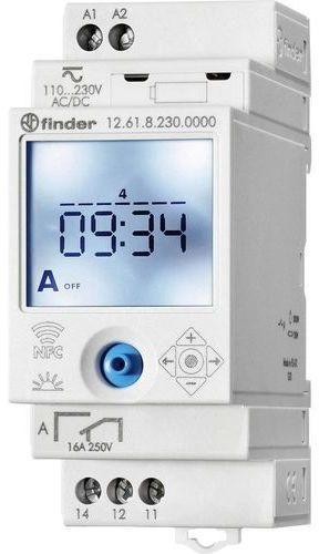 Zegar sterujący elektroniczny NFC Finder 12.61.8.230.0000 Zegar sterujący elektroniczny NFC 1CO 230V AC Finder 12.61.8.230.0000