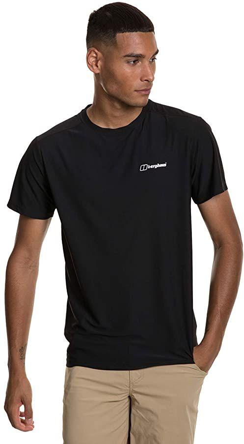 Berghaus męska koszulka z krótkim rękawem 24/7 Czarny/Czarny S