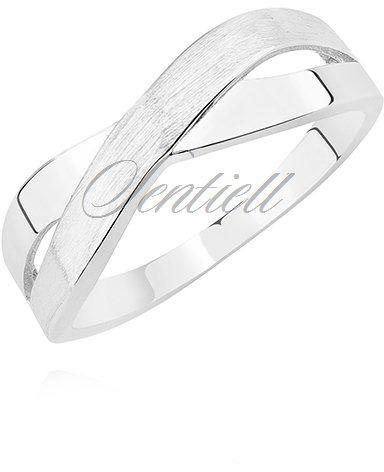 Srebrny delikatny pierścionek pr.925 klasyczny, znak x