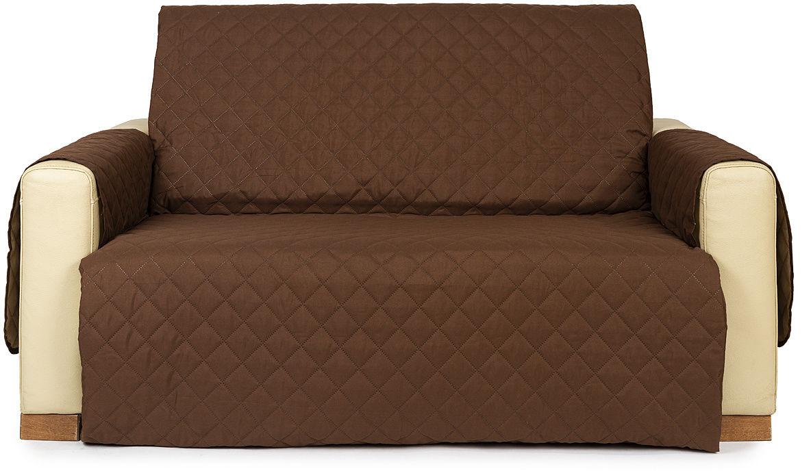 4Home Narzuta na kanapę 2-osobową Doubleface brązowa/beżowa, 140 x 220 cm, 140 x 220 cm