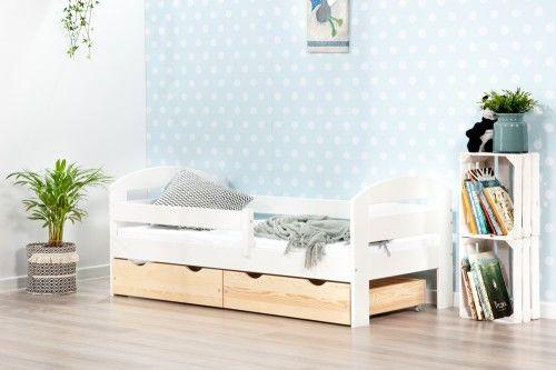 BumbleBee łóżko pojedyncze z dwiema szufladami kolor biały/sosna
