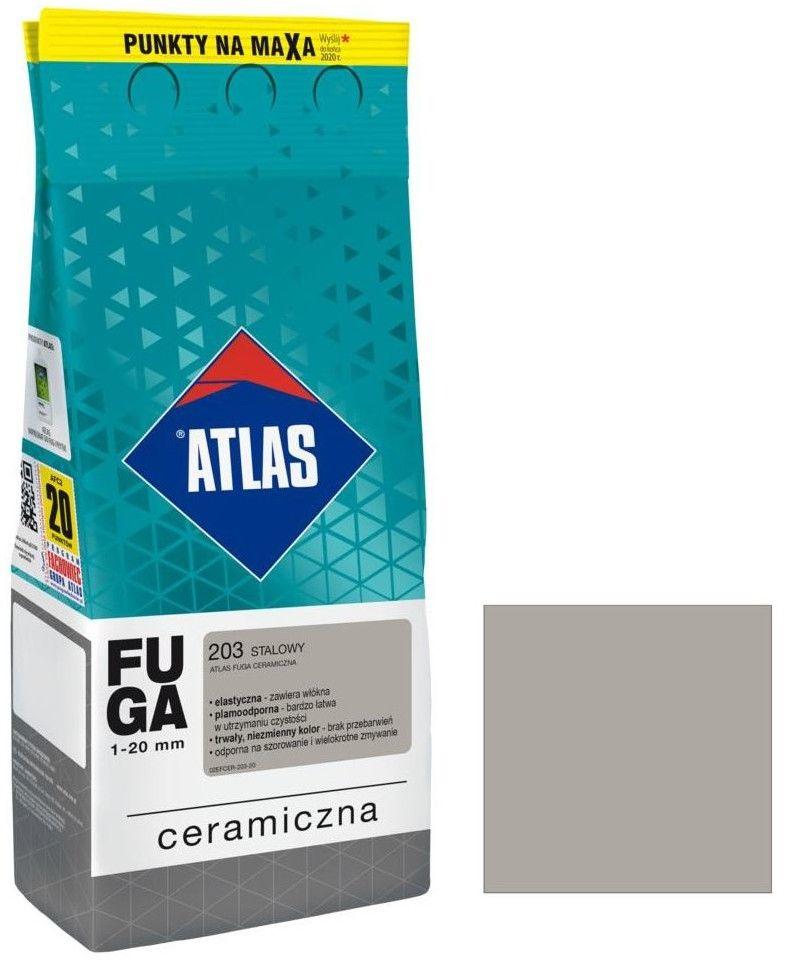Fuga ceramiczna Atlas 203 stalowy 2 kg
