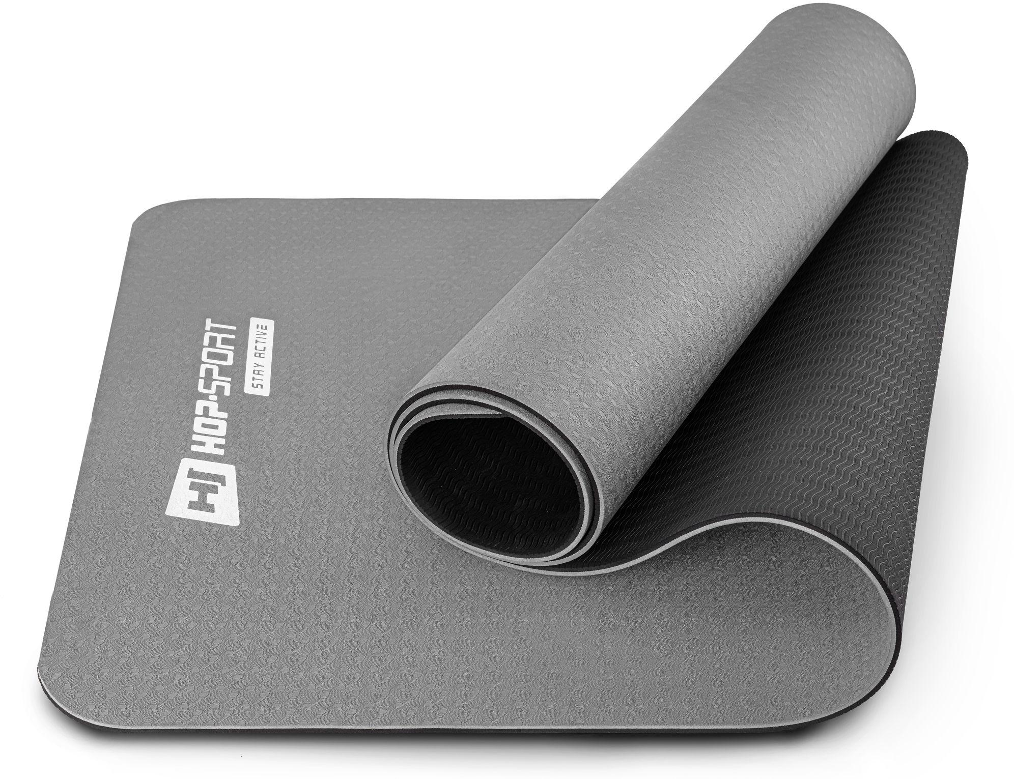 Mata fitness TPE 0,6cm - szara