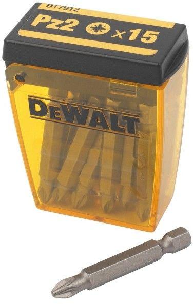 zestaw 15 szt. końcówek PZ2, o długości 50mm, Dewalt [DT7912-QZ]