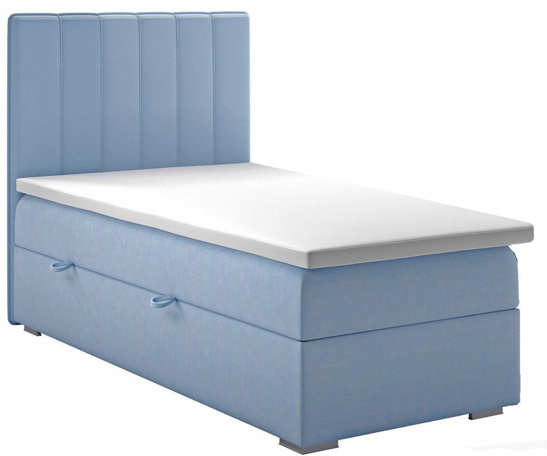 Pojedyncze łóżko boxspring Provence 80x200 - 58 kolorów