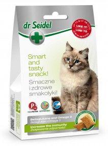 Smakołyki dr Seidla na zwiększenie odporności z beta glukanem dla kotów 50 g