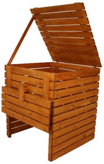 Kompostownik ogrodowy drewniany - 1200l