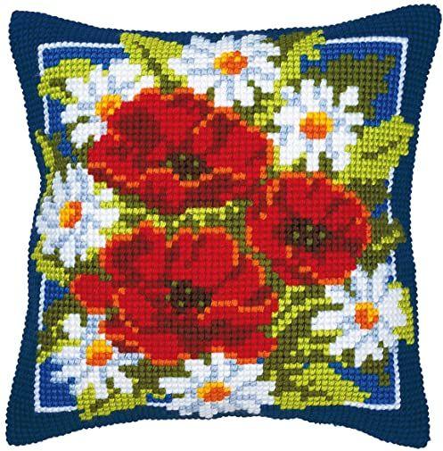 Vervaco Poduszka do haftowania krzyżykowego / poduszka do haftowania łącznie z materiałem