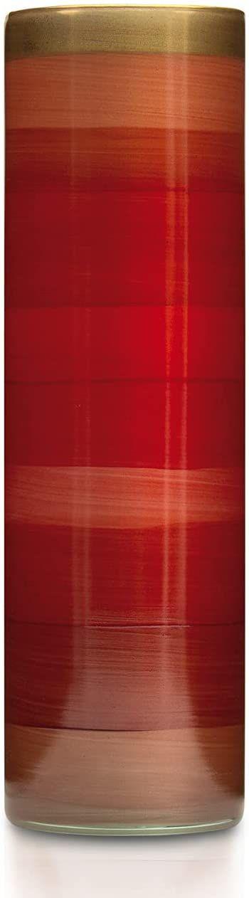 Angela Neue Wiener Werkstätte Wazon ANDREA mini pomidor szklany wazon ręcznie malowany, pozłacany, szkło, czerwony, 8 cm