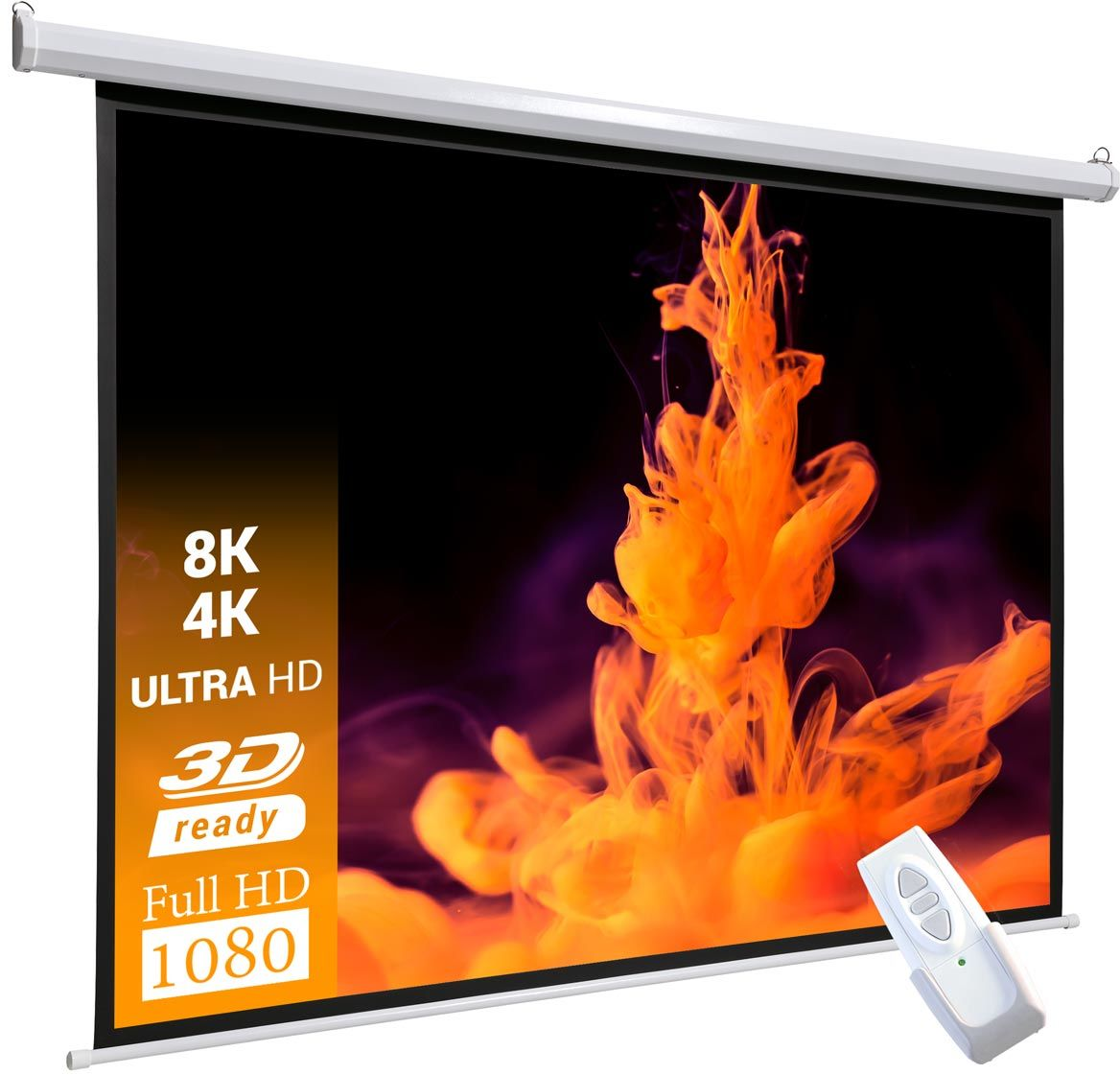 celexon basic line 200 x 200 cm elektryczny ekran projekcyjny Matt White 1:1 (111)