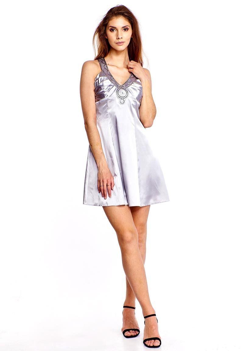 Sukienka FSU186 SZARY