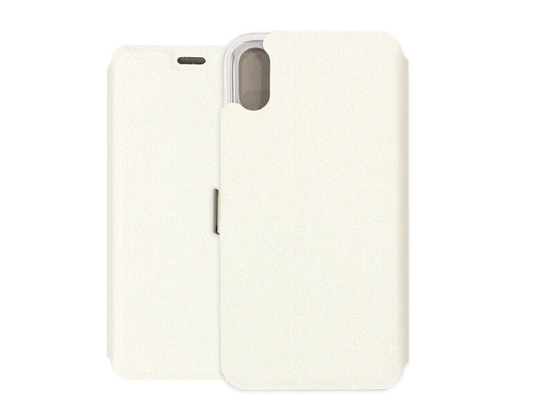 Apple iPhone X - etui na telefon Wallet Book - biały