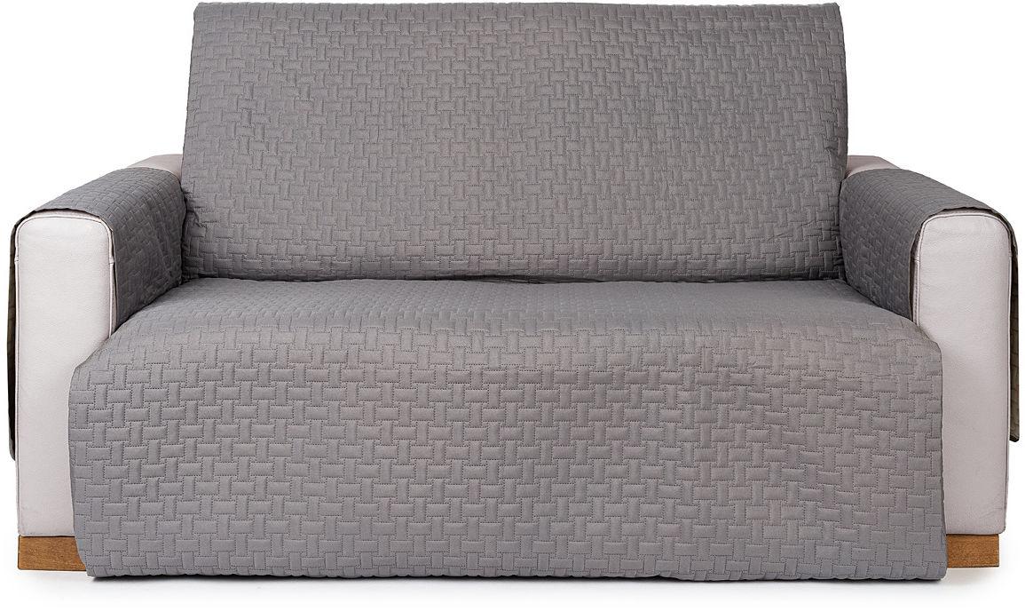 4Home Narzuta na kanapę 2-osobową Doubleface szara/jasnoszara, 140 x 220 cm