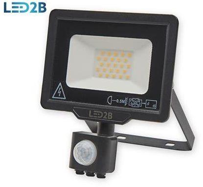 Oprawa LED MHC z czujnikiem 20W CZARNA barwa NEUTRALNA LED2B