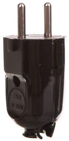 Wtyczka kątowa uniwersalna z/u 10A 250V FWKC czarna 51.230