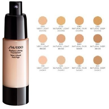 Shiseido Radiant Lifting Foundation Firming and Anti-wrinkle B100 Very Deep Beige Kremowy podkład przeciwstarzeniowy - 30ml Do każdego zamówienia upominek gratis.