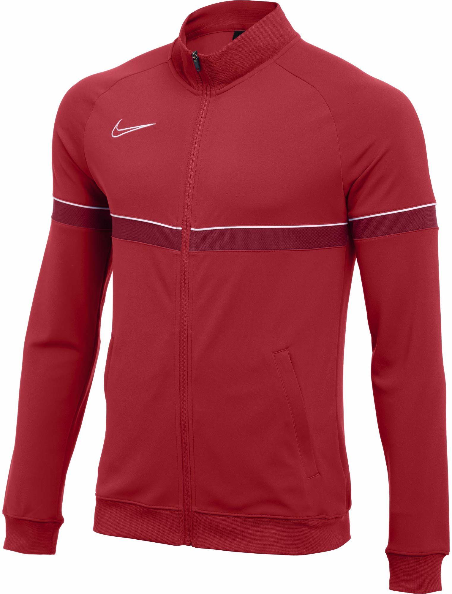 Nike Męska kurtka Dri-FIT Academy 21, uniwersytet czerwony/biały/siłownia czerwony/biały, L