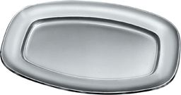 Alessi talerz do serwowania owalny, 30 cm, mata ze stali nierdzewnej 18/10 z polerowaną krawędzią