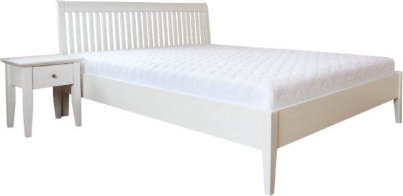 Łóżko GLAMOUR EKODOM drewniane, Rozmiar: 100x200, Kolor wybarwienia: Ciemny Orzech, Szuflada: Brak Darmowa dostawa, Wiele produktów dostępnych od ręki!