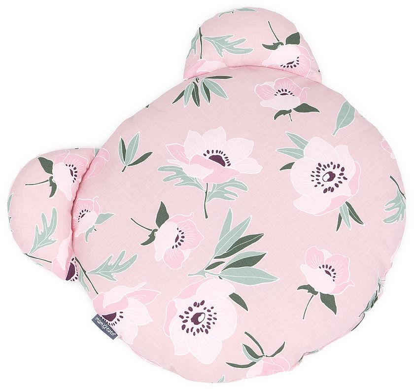 MAMO-TATO Poduszka Miś Bawełna - Kwiaty na różanym