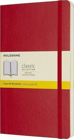 Notes moleskine w miękkiej oprawie l czerwony w kratkę