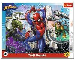 Puzzle 25el ramkowe Odważny Spiderman 31347 Trefl (31347 TREFL)
