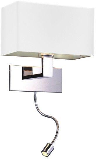 ŻARÓWKA LED GRATIS! Kinkiet Martens AZ1526 AZzardo biała oprawa w nowoczesnym stylu