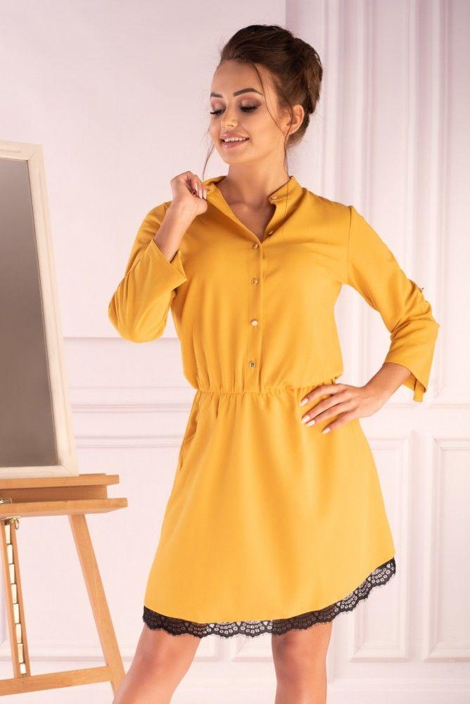 Jentyna Yellow 85605 sukienka koszulowa