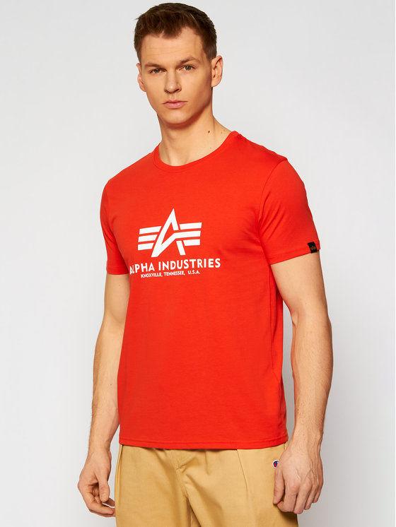 Alpha Industries T-Shirt Basic 100501 Czerwony Regular Fit