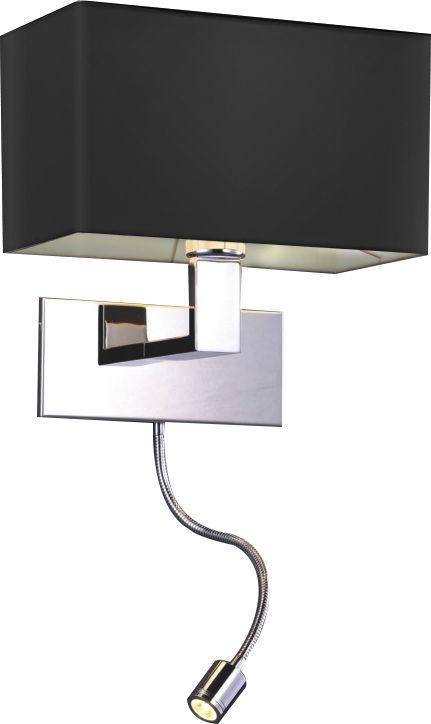ŻARÓWKA LED GRATIS! Kinkiet Martens AZ1558 AZzardo czarna oprawa w nowoczesnym stylu