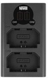 Ładowarka Newell LCD-USB-C FZ100 dwukanałowa (Sony A7 III, A7R III, A9)