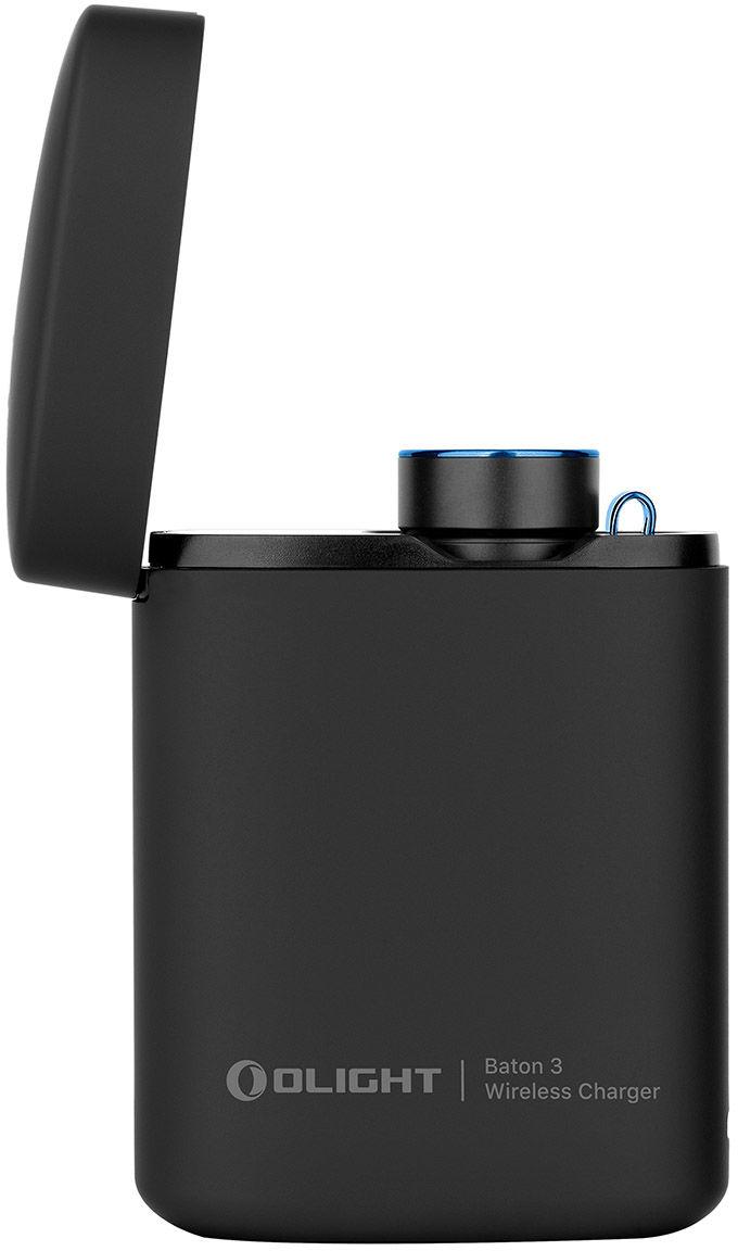 Latarka akumulatorowa Olight Baton 3 Premium Edition Black 1200 lumenów z bezprzewodowym etui ładującym