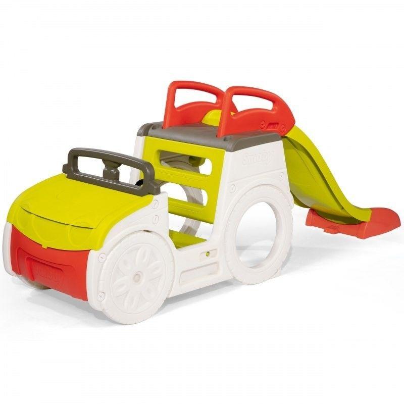 Smoby Samochód Przygód ze zjeżdżalnią i piaskownicą