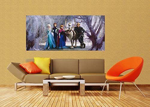 AG Design Disney Frozen fototapeta do pokoju dziecięcego, papier wielokolorowy, 0,1 x 202 x 90 cm