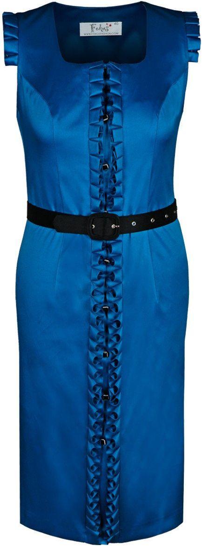 Sukienka FSU227 CHABROWY