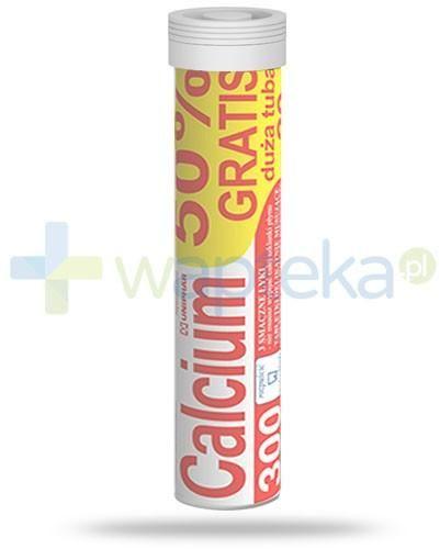 Calcium 300 smak pomarańczowy 20 tabletek musujących Uni-Phar