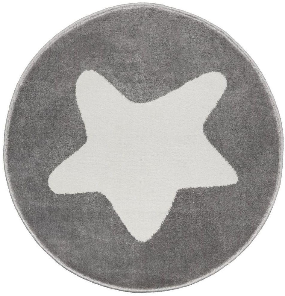 Dywan dziecięcy Gwiazdka szary okrągły śr. 80 cm