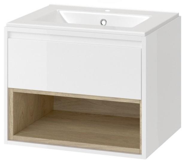Excellent Tuto szafka wisząca z umywalką 60x50x45 cm biały dąb MLEX.0101.600.WHBL/CEEX.3617.600.WH