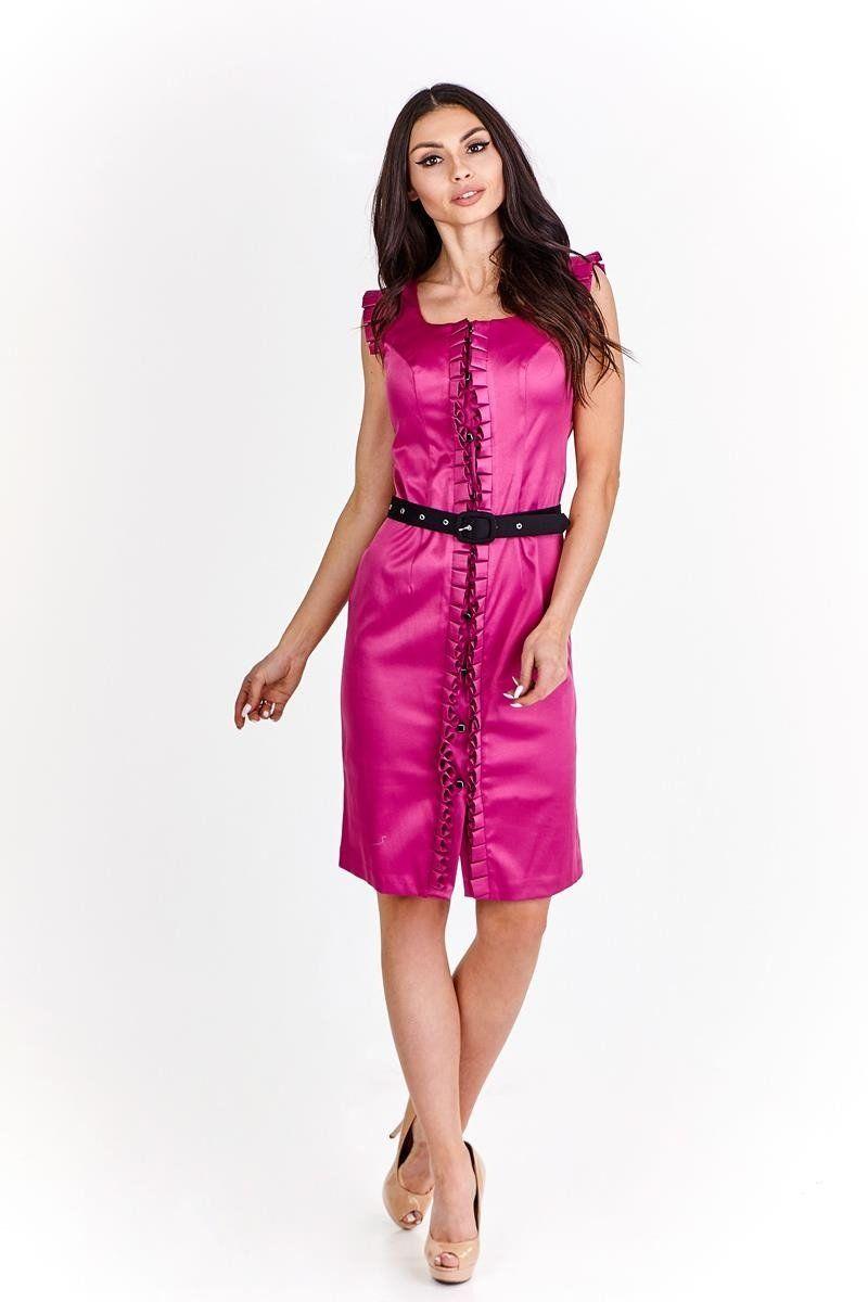 Sukienka FSU227 AMARANTOWY ŚREDNI