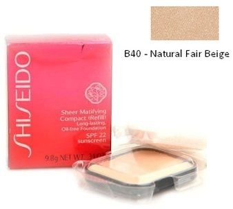 Shiseido Sheer Matifying Compact (Refill) Long-lasting, Oil-free Foundation B40 Natural Fair Beige Podkład matujący w kompakcie (wklad) - 9,8g Do każdego zamówienia upominek gratis.