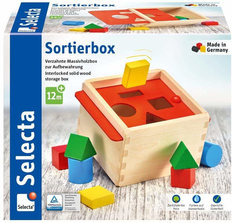 Selecta 62005 Sortierbox, sorter z drewna, 14 cm