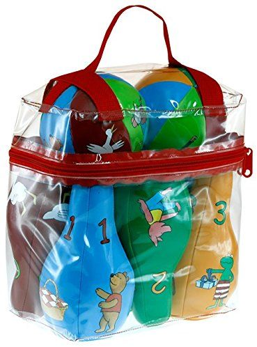 Barbo Toys Barbo Toys7790 zabawki Barba żaba i przyjaciele miękki zestaw kręgli, wielokolorowy