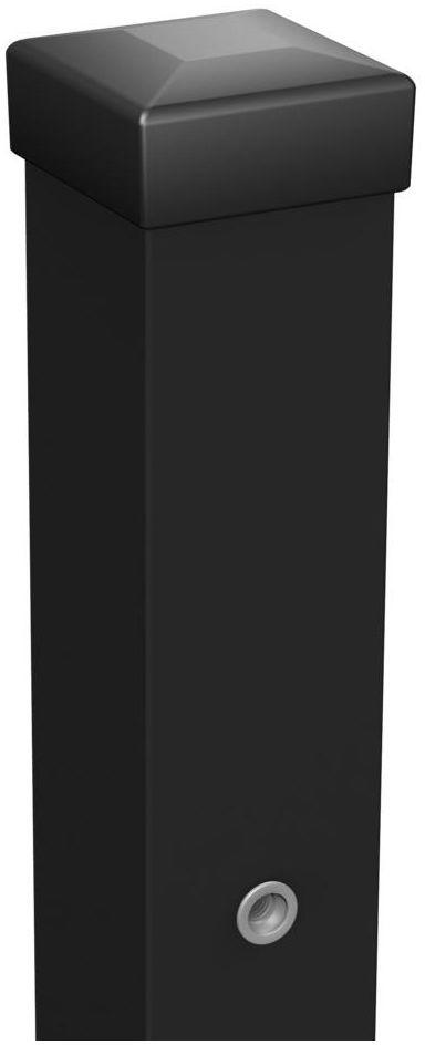 Słupek bramowy 7 x 7 x 200 cm czarny POLBRAM