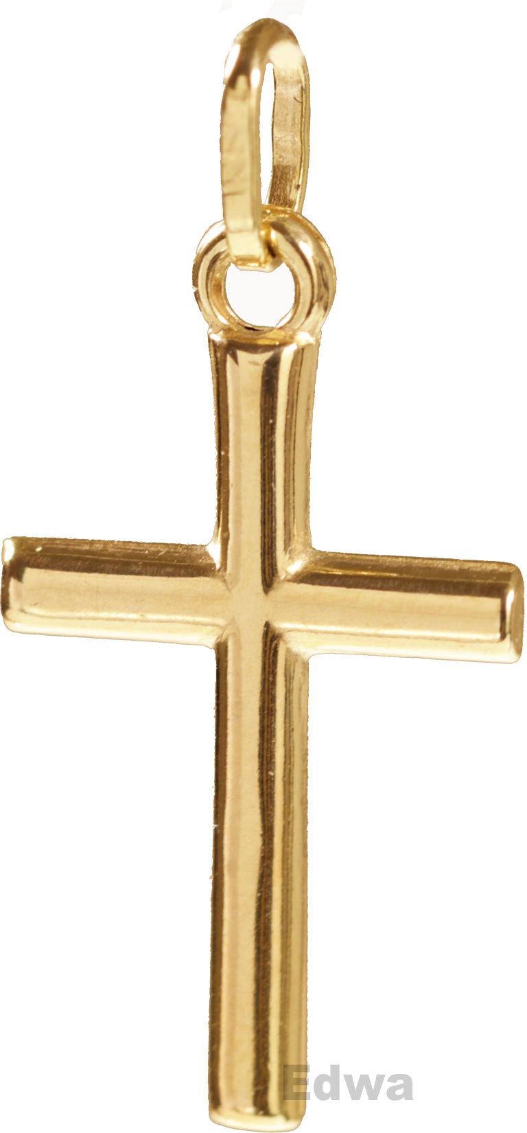 Zawieszka krzyżyk złoty pr.585