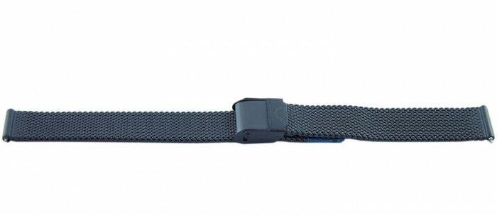Bransoleta BISSET BM-101 mesh czarna 14mm